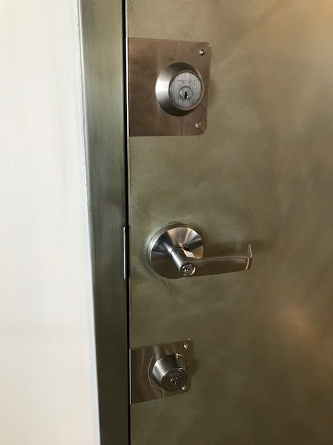 We installed two Mag wrap around plates in stainless steeland two Medeco Maxum high security deadbolts in brushed chrome. We also replaced the included mag ... & Uncategorized | Christopher Dayan Security