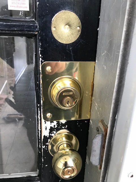 new locks on messy door